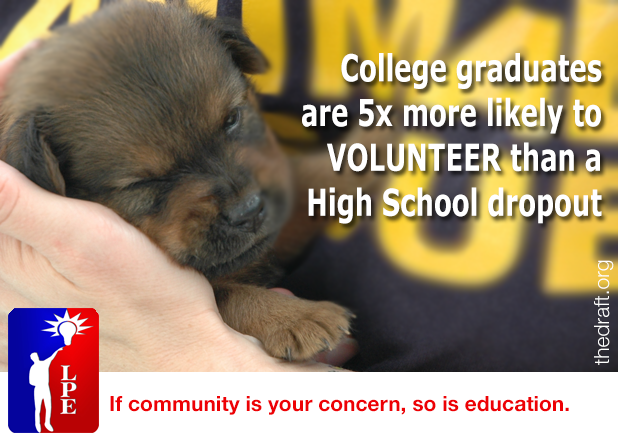 If community is your concern, so is education