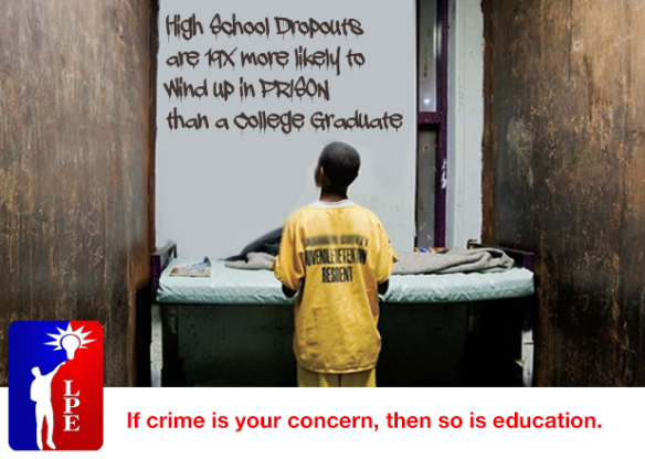 If crime is your concern, then so is education